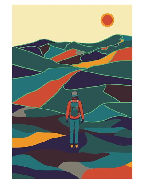 Mountain Relief print
